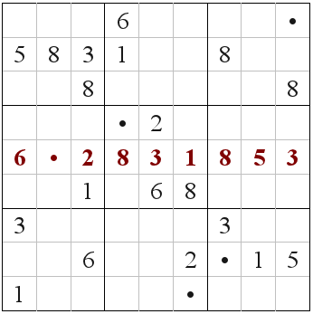 sudoku puzzle by Cap Khoury, based on the digits of tau
